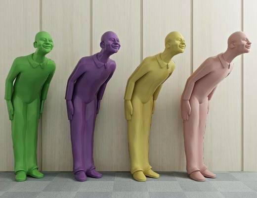 人物雕塑, 雕刻, 装饰品, 陈设品, 现代