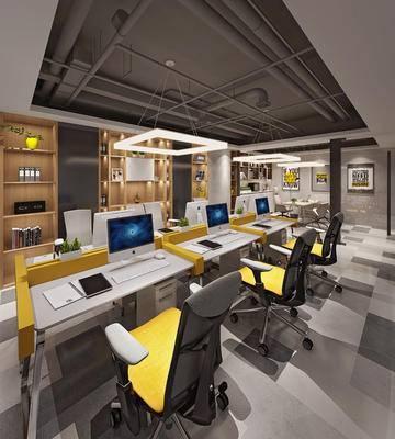 办公室, 办公区, 现代办公区, 现代办公室, 办公桌椅