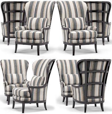 单人沙发, 扶手沙发, 休闲沙发, 沙发, 现代, 简美, 美式