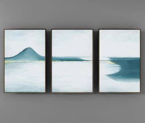 新中式山水金箔装饰画