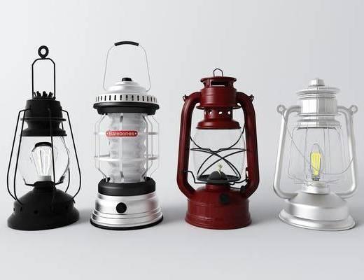 煤油灯, 灯具, 灯饰