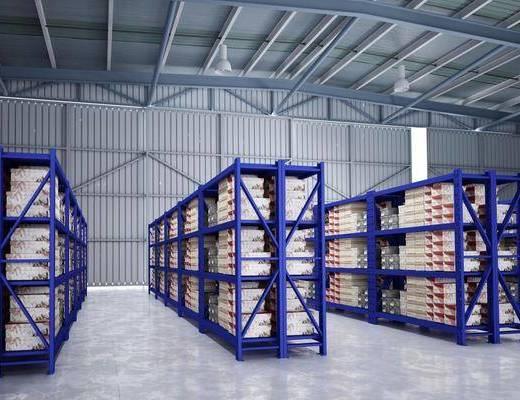 厂房, 货物, 货架, 货仓