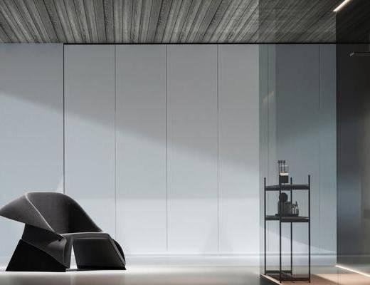现代, 浴室, 家装