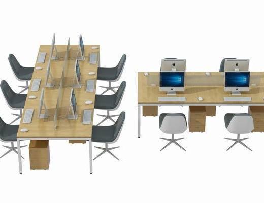 桌椅组合, 办公桌, 桌子, 单人椅, 办公椅, 休闲椅, 现代