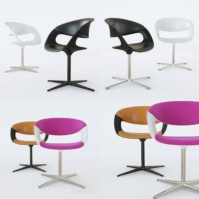 办公椅, 单人椅, 现代, 休闲椅