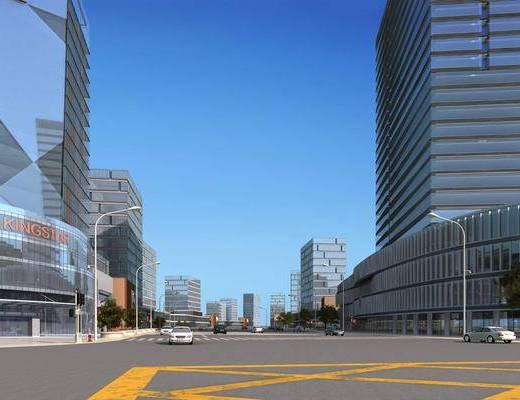 大厦, 马路, 公路, 公建, 大楼, 建筑, 现代