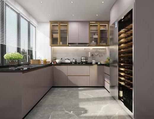 后现代厨房, 厨房, 橱柜