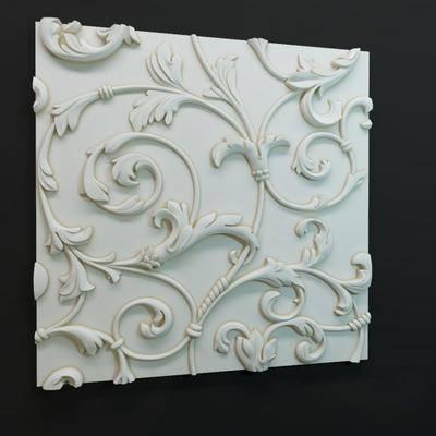 石膏雕花, 现代
