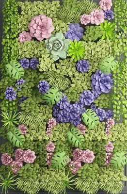 背景墙, 花墙, 绿植植物, 现代
