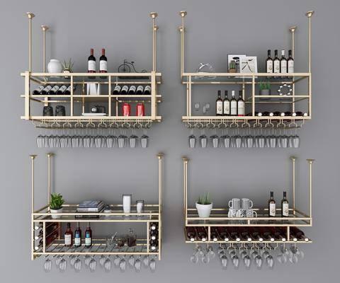 金屬酒架, 酒柜, 酒瓶組合, 現代