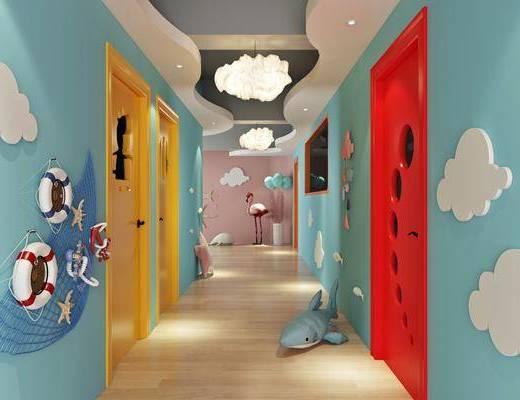 現代, 走廊過道, 幼兒園