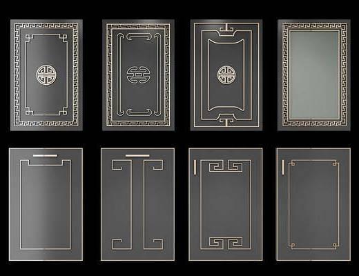 柜门, 门板, 新中式门板, 新中式柜门, 新中式