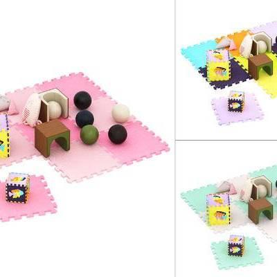 儿童爬行垫, 玩具, 椅子, 球