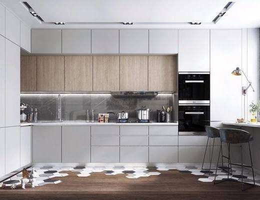 吧台, 吧台椅, 装饰品, 厨房电器, 厨房用品, 厨房