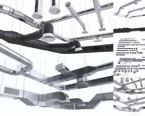 金属工业, 通风管道, 现代金属工业通风管道组合, 现代