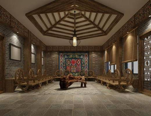 中式, 展览, 展览馆, 展览厅