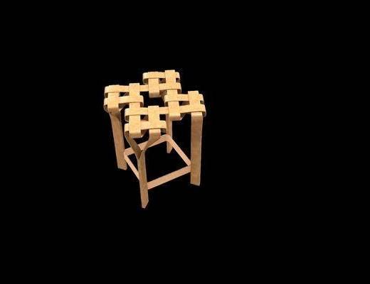 编织椅子, 单人椅, 凳子, 现代