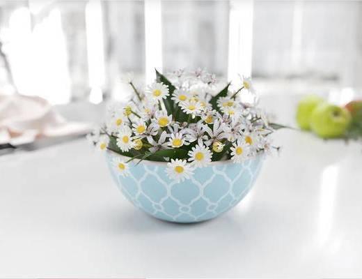 花瓶, 花卉, 植物, 花草