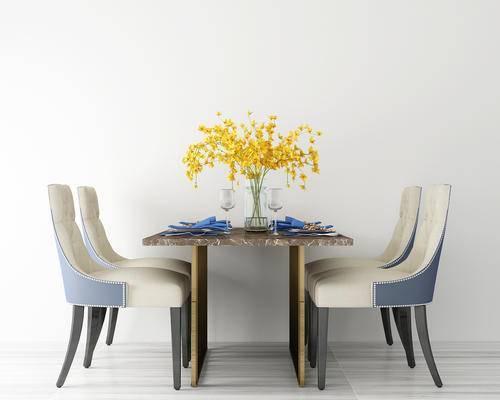 餐桌, 餐厅, 餐桌椅, 椅子, 绿植