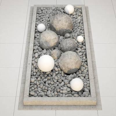 鹅卵石, 石头, 现代, 石块