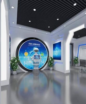 展厅, 科技展厅, 现代展厅, 文化墙, 现代