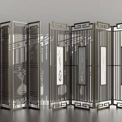 金属花格, 屏风隔断, 新中式