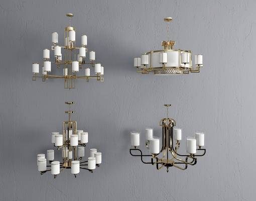 新中式吊灯, 吊灯, 金属吊灯