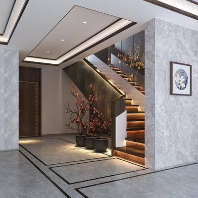 新中式楼梯, 楼梯