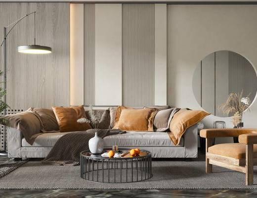 现代沙发, 轻奢沙发, 双人沙发