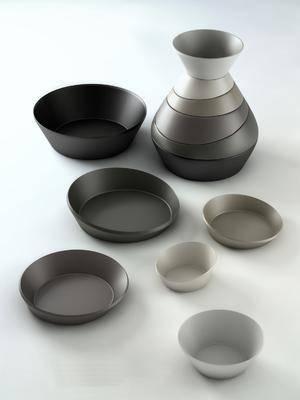 盘子, 餐具, 摆件, 现代