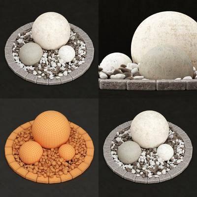 鵝卵石, 石頭