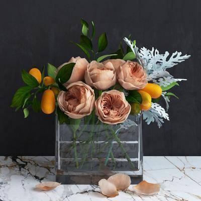 花瓶, 花卉, 装饰花, 玻璃, 现代