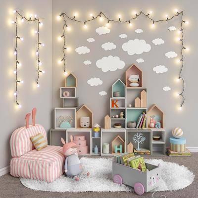 玩具, 书柜, 书架, 置物柜, 吊灯
