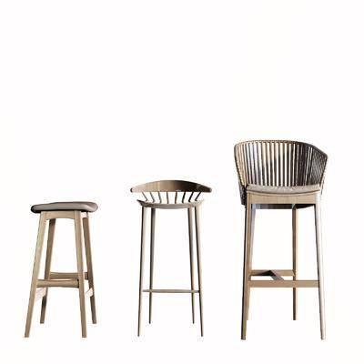 北欧吧椅, 凳子