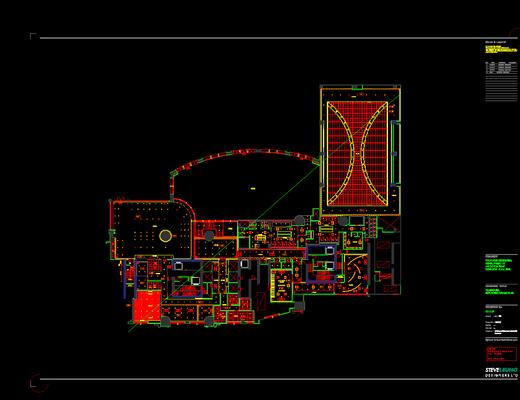 CAD施工图, 工装, 会所, 平面, 立面, 大师