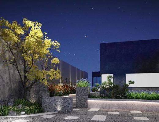 园林景观, 植物, 花园, 阳台