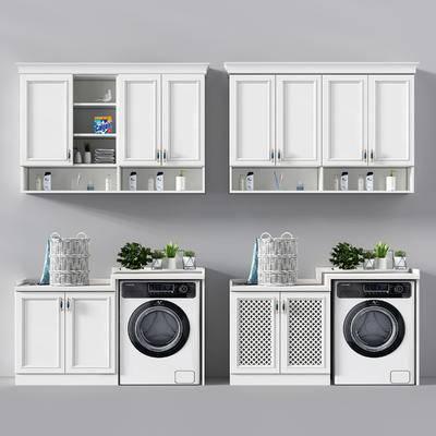 简欧, 洗衣机, 组合