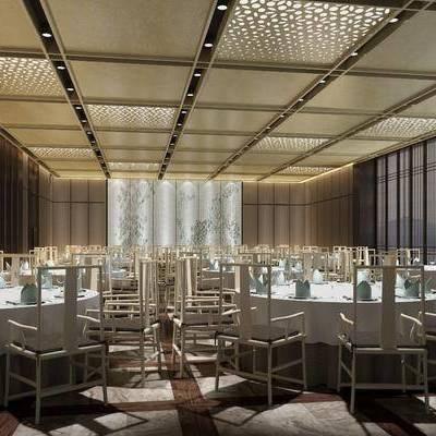 餐桌, 餐椅, 摆件, 装饰画, 挂画, 现代, 宴会厅