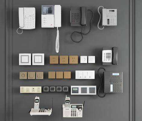 开关, 可视电话, 现代开关插座