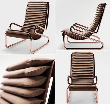 单椅, 现代椅, 休闲椅, 现代休闲椅, 皮革椅, 纯色椅, 现代