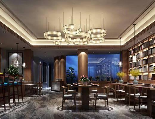 新中式, 餐厅, 家装