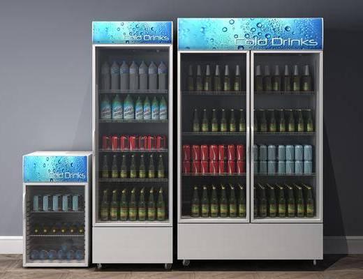 冰箱冰柜, 饮料组合, 现代