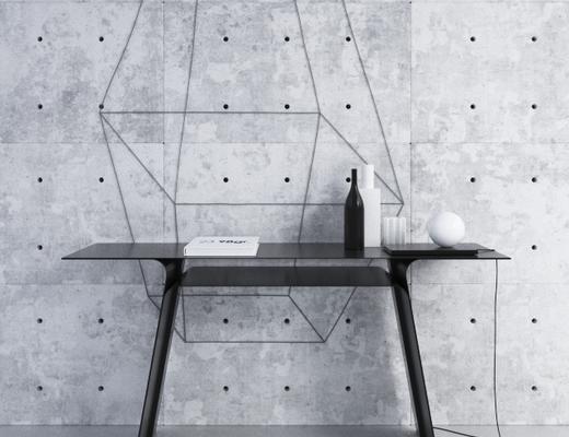 美式简约, 工业风格, 书桌, corona