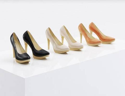 鞋子, 高跟鞋, 现代
