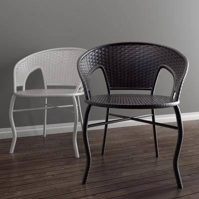 藤椅, 单人椅, 现代