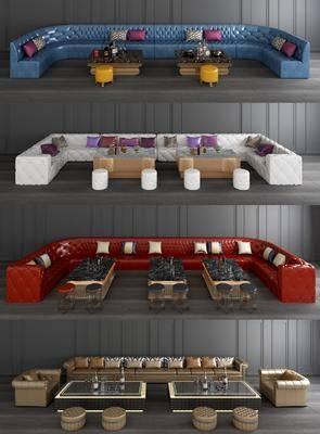 KTV休闲沙发, 沙发茶几组合, KTV房沙发, 欧式