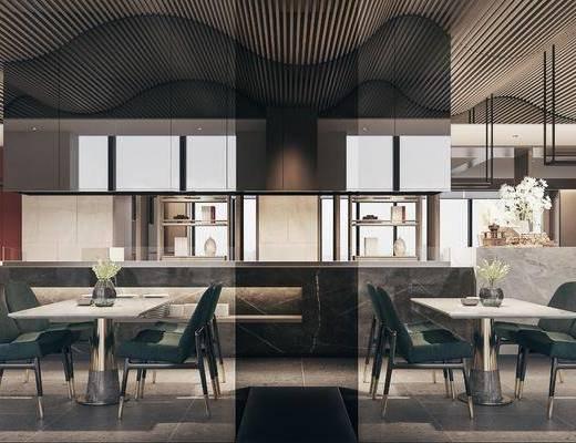 現代餐廳, 餐桌, 點餐區