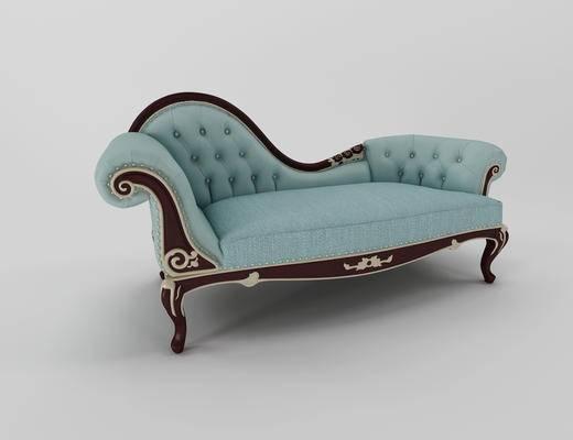 欧式贵妃椅, 欧式沙发, 多人沙发