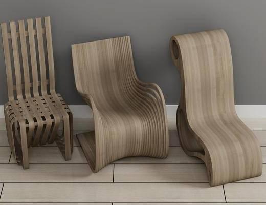 休闲椅, 实木椅子, 单人椅, 现代