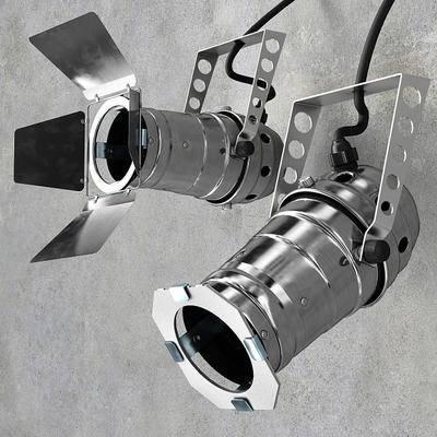 射灯, 不锈钢, 灯, 现代
